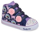 Skechers Toddler Girl's Twinkle Toes Shuffles High Top Sneaker