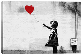 iCanvas Girl with a Balloon by Banksy (Canvas)