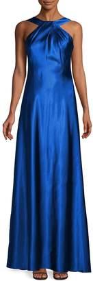 Calvin Klein Satin Halter Neck Gown