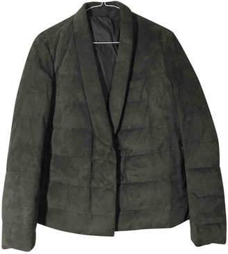 Brunello Cucinelli Grey Suede Coats
