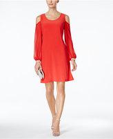 MSK Embellished Cold-Shoulder Cocktail Dress