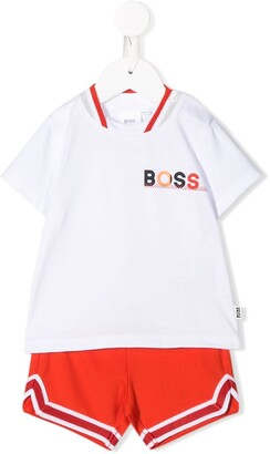 Boss Kidswear Striped Trim Two-Piece Set