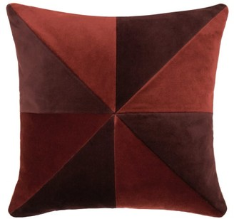 Christina Lundsteen - Suki Patterned Cotton-velvet Cushion - Red Multi