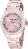 Haurex Italy Women's XK374DP1 Ink Stones Light Aluminum Crystal Date Watch