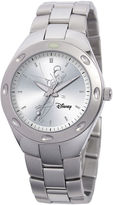 Disney Fortaleza Tinker Bell Womens Oversized Silver-Tone Watch