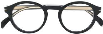 David Beckham Eyewear thick rimmed round glasses