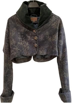 Romeo Gigli Blue Velvet Jacket for Women