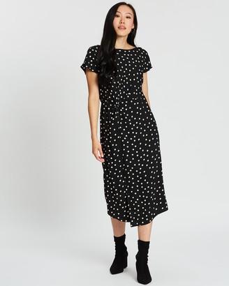 Dorothy Perkins Spot Twist Midi Dress