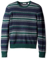 Cashmere Addiction Men's Micro Stripe Crew Neck Sweater