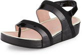 Taryn Rose Avin Patent Leather Strappy Sandal, Black