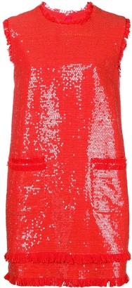 MSGM Short Round Neck Dress