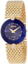 Jowissa Women's J5.012.M Facet Strass Gold PVD Dimensional Glass Blue Dial Rhinestone Watch