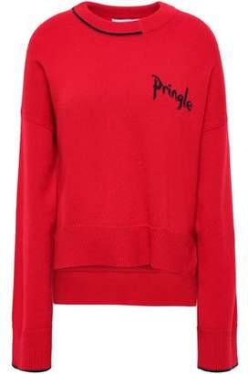 Pringle Intarsia-trimmed Cashmere Sweater