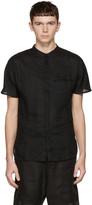 Isabel Benenato Black Linen Shirt