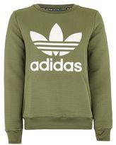 adidas Trefoil textured sweatshirt
