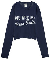 PINK Penn State University Long Sleeve Campus Cutout Tee