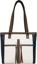 East Fifth east 5th Leather Front Pocket Tote Bag