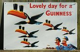 Guinness Lovely Day for a Metal Beer Sign