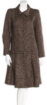 Oscar de la Renta Tweed Swing Coat