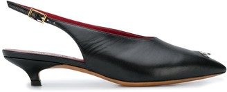 Marni ring detail slingback shoes