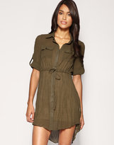 ASOS Sheer Pocket Shirt Dress