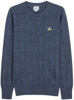 Vivienne Westwood Blue Flecked Linen Blend Jumper