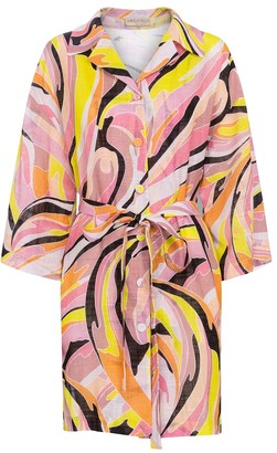 Emilio Pucci Beach Printed cotton shirt minidress