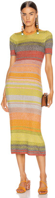 Zimmermann Brightside T-Shirt Knit Dress in Sunset Ombre | FWRD