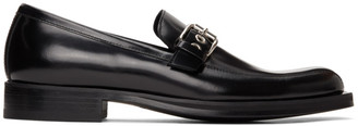 Versace Black Buckle Loafers