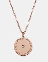Michael Kors Heritage Logo Disc Necklace