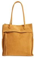 Hobo Lure Suede Shoulder Bag - Yellow