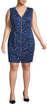 PROJECT RUNWAY Best of Project Runway All Stars Colorblock Zipper Dress - Plus