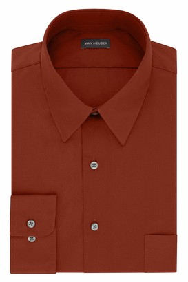 Van Heusen Men's FIT Dress Shirt Poplin Solid (Big and Tall)