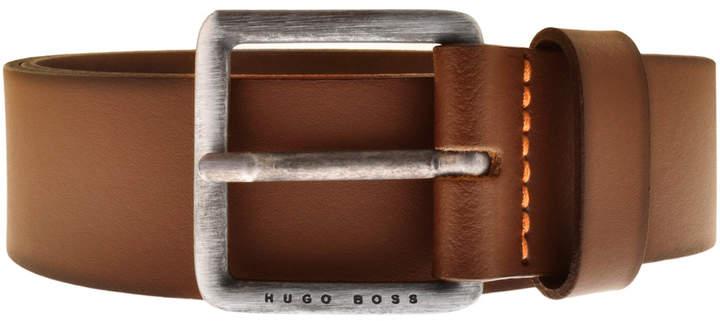 e83f02029d2f Hugo Boss Brown Leather Belt - ShopStyle UK