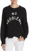 Wildfox Couture No Problemo Distressed Sweater
