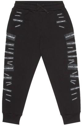 Dolce & Gabbana Kids Logo cotton trackpants