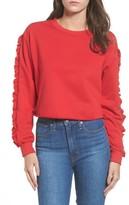 Soprano Women's Ruffle Trim Sweatshirt