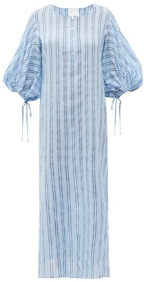 Binetti Love Stir It Up Striped Cotton Dress - Womens - Blue Multi