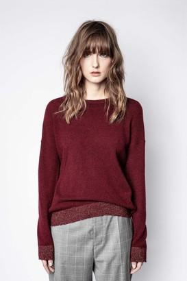 Zadig & Voltaire Cici Patch Lurex Cashmere Sweater