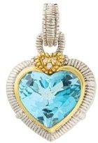 Judith Ripka Diamond & Topaz Large Heart Enhancer