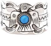 LuLu*s Soaring Spirit Blue and Silver Cuff Bracelet