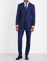 Corneliani Checked slim-fit wool suit
