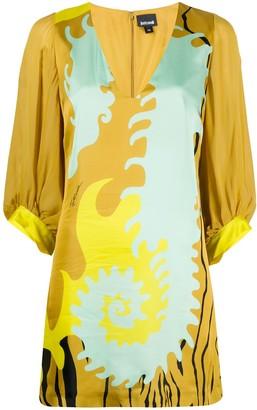 Just Cavalli Colour-Block Shift Mini Dress