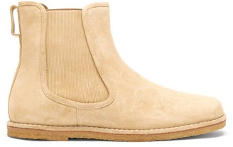Loewe Suede Chelsea Boots - Gold