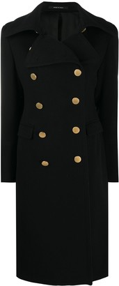 Tagliatore Long-Sleeve Double Breasted Coat