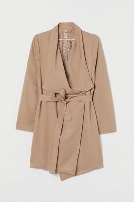 H&M H&M+ Coat with draped lapels