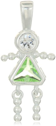 Amazon Collection Sterling Silver AAA Cubic Zirconia Simulated Birthstone Babies Girl Charm August