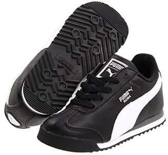 Puma Kids Roma Basic Kids (Toddler/Little Kid/Big Kid) (Black/White Silver) Boys Shoes