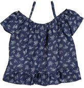 "Instagirl Big Girls' ""Chambray Floral"" Cold Shoulder Top - , 10-12"