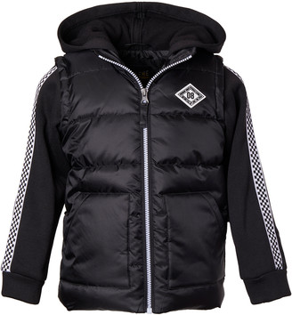 iXtreme Boys' Puffer Coats BLACK - Black Hooded Puffer Coat - Infant, Toddler & Boys